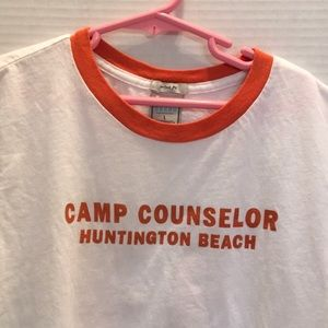 """Old Navy Tops - OLD NAVY """" CAMP COUNSELOR HUNTINGTON BEACH"""" RINGER"""